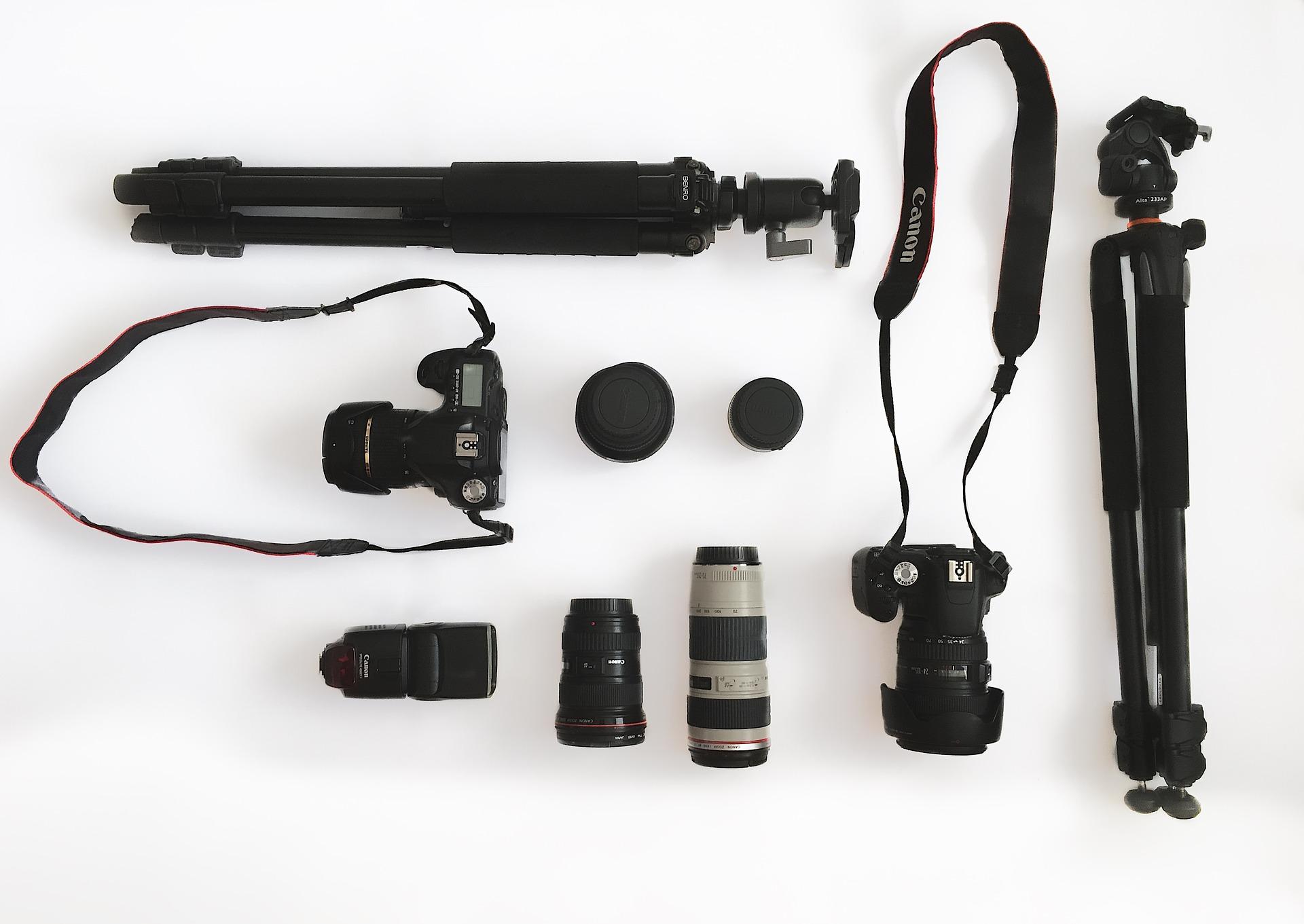 fotoaparat, stativ