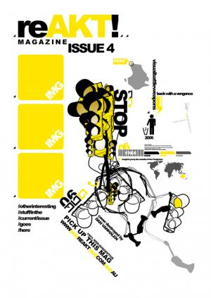 reAKT magazine cover design