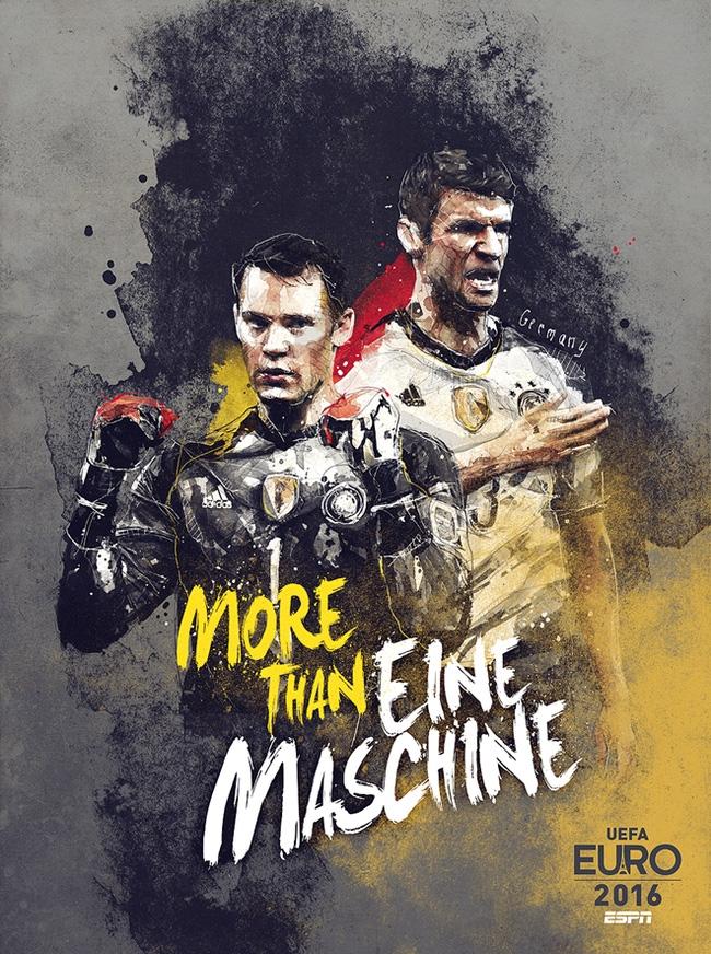 Nemci sú favoriti na zisk trofeje, ich tvárou na plagáte je brankár Manuel Neuer a útočník Thomas Mueller, o ktorom ešte budete veľa počuť.
