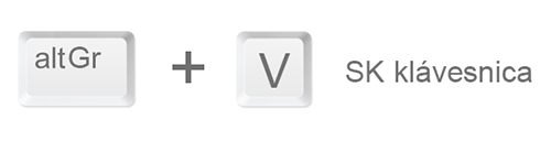 Zavináč písaný na slovenskej klávesnici