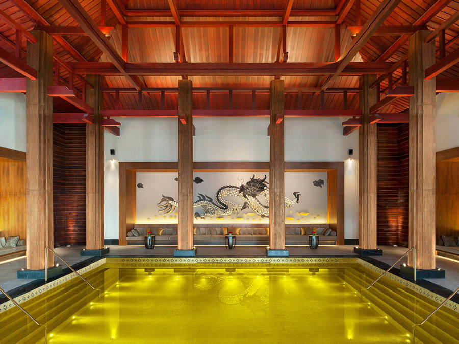 Gold Energy Pool, St. Regis resort, Lhasa.