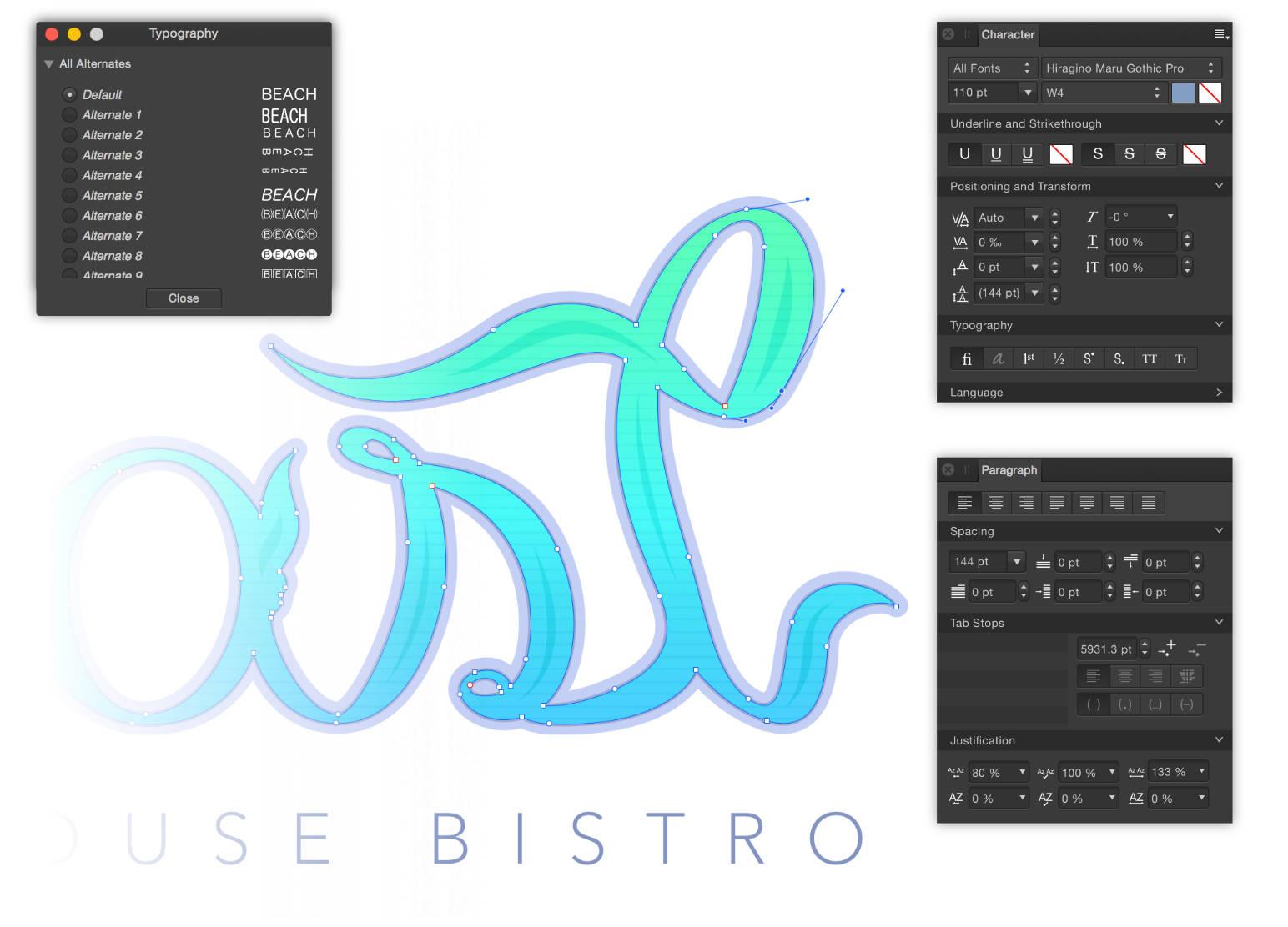 typography affinity