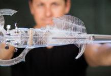 Husle vytvorené 3D tlačou. Zdroj: https://www.3d-varius.com/