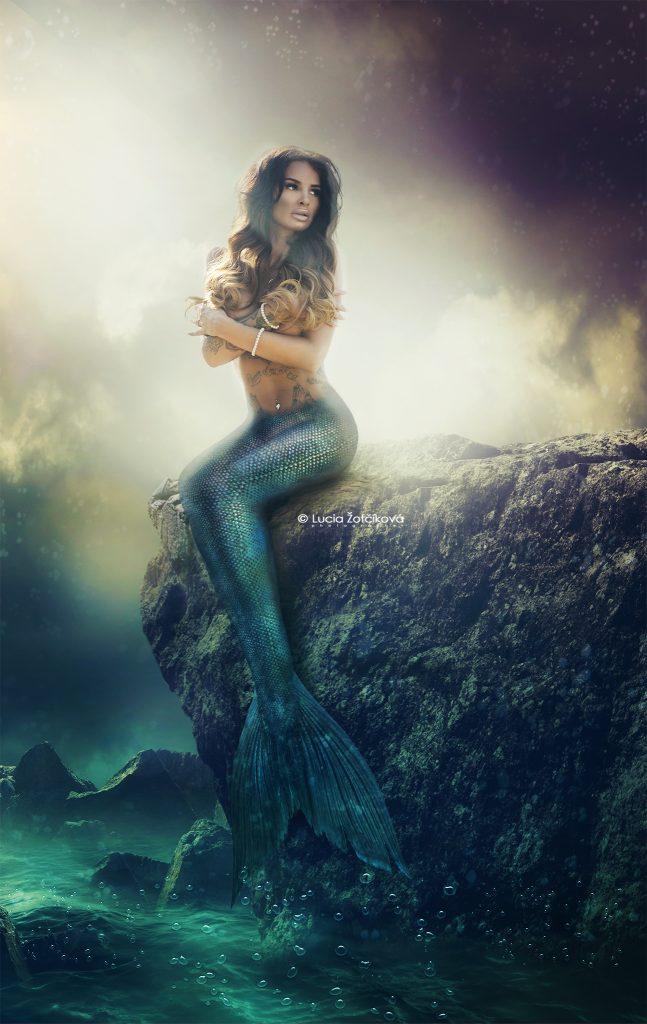 Zuzana Plačková ako morská panna
